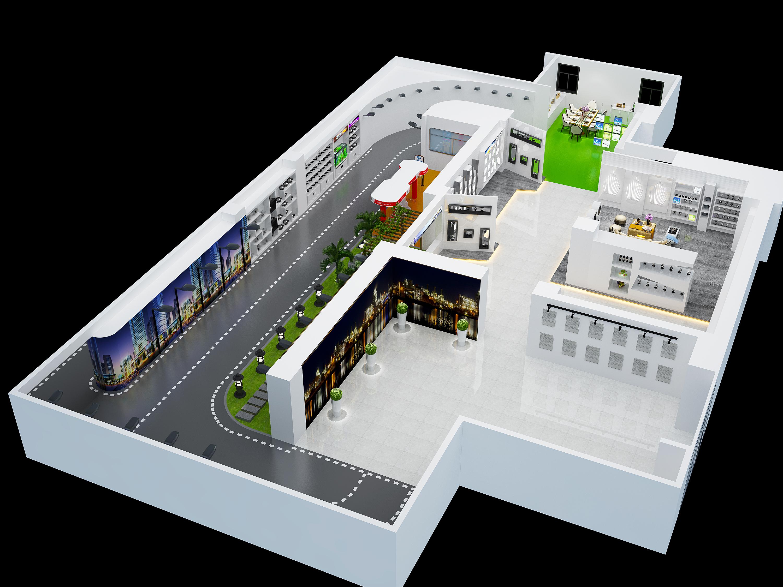 [广州]全套灯饰展厅设计施工图(含效果图)