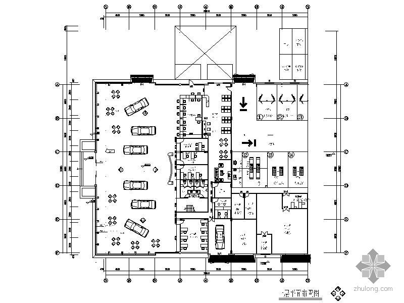 [浙江]某广告4s店装饰设计图中级汽车设计师资格证图片